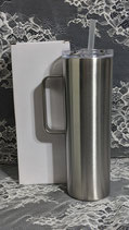 20 Oz Skinny Stainless Tumbler with Handle - Case of 25