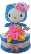 Thementorte : Windeltorte Hello Kitty - Pinguin
