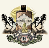 X Hendricks 0,7l Bottle + Fever Tree Tonics (8 bottles)