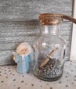 Geschenkengel im Glas Hellblau