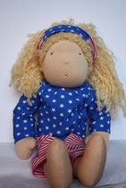 Dolly Puppe nach Waldorfart Stars and Stripes