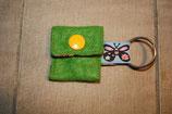 Einkaufswagenchip Täschchen Grün aus Filz