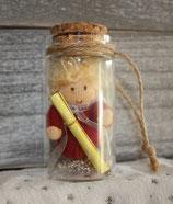 Geschenkengel im Glas Rot