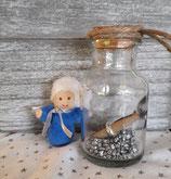 Geschenkengel im Glas Blau