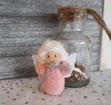 Geschenkengel im Glas Rosa