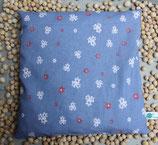 Kirschkernkissen Blumen blau