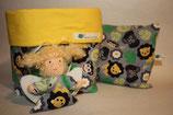 3er Set Baby Kirschkernkissen, Schutzengel Utensilo Zoo Tiere