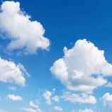 FOTOPRINT afbeelding wolk verdeeld over 1 panelen 595 x 595 mm F60WOLK1