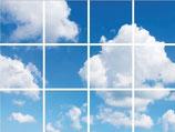 FOTOPRINT afbeelding wolk verdeeld over 12 panelen 595 x 595 mm F60WOLK12