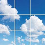 FOTOPRINT afbeelding wolk verdeeld over 9 panelen 595 x 595 mm F60WOLK9