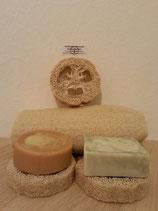 Seifenablage aus Luffa-Gurke
