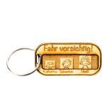 Schlüsselanhänger - Fahr vorsichtig - Holz - personalisierbar