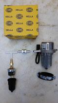 Unterdruckbremspumpe mit Halter, Abschaltsystem, Rückschlagventil und Schlauchanschlüssen