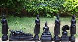 Wochentagsbuddha Set groß aus Kunstharz