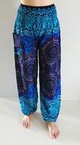 Yoga- und Relaxhose Circle Blue-Violett
