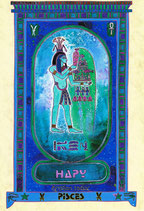Zodiaque Dieux de l'Ancienne Egypte, Poisson, ZOD.E24