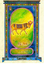 Zodiaque Dieux de l'Ancienne Egypte, Taureau, ZOD.E14