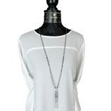 schm-s-0018 Schmuck-SET: Halskette und Armbänder Hämatitperlen, Hämatitwürfel, Silber 25