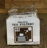 Boite de 64 filtres à thé avec ficelle