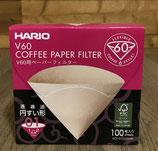 Boite de 100 filtres Hario pour V60 1 à 2 tasses