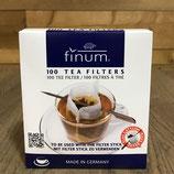 Boite de 100 filtres à thé avec pic bambou