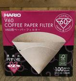 Boite de 100 filtres Hario pour V60 1 à 4 tasses