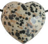 Herzanhänger Dalmatinerjaspis