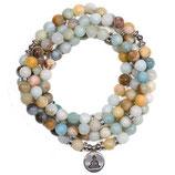 Mala Armband Amazonit-Buddha 108 Perlen