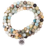 Mala Armband Amazonit-Lotus  108 Perlen