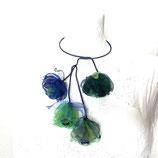Florale Kette blau/grün