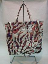 ショルダートートバッグ-zebra pink-
