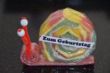 Zum Geburtstag Schnecke rot (gross)