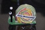 Gute Besserung Schnecke grün (gross)
