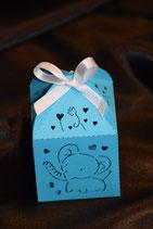Baby Tischdekoration Elefant mit Truffes blau