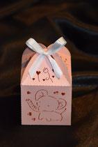 Baby Tischdekoration Elefant mit Truffes rosa