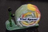 Viel Spass Schnecke grün (gross)