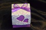 Herz Tischdekoration mit Truffes lila