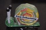 Zum Geburtstag Schnecke grün (gross)