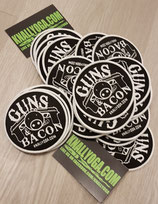 The GUNS & BACON Patch / ca. 8 cm