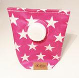 Kaugummi Täschchen mit Boden Sterne pink