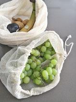 Obst- und Gemüsebeutel aus Bio Baumwolle