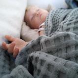 Babydecke 70x70cm Waffelstoff