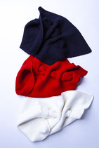 HAPPY NECK SET fire red + off white + navy blue