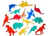 Moosgummitiere Dinosaurier 15 Stück