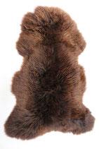 Peau de mouton mérinos naturelle marron nuancé