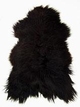 Peau de mouton islandaise naturelle noire