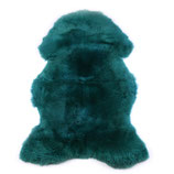 Peau de mouton teintée vert sapin