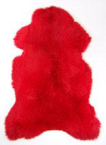 Peau de mouton teintée rouge