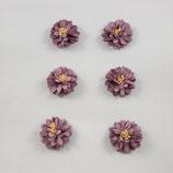 Stoffblume aus Filz hochwertigste Handarbeit 6 Stück-Set