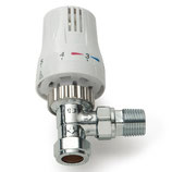 Thermostat Eckventil mit Unterteil